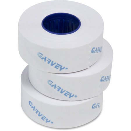 Garvey One-Line Pricemarker Labels, 7/16 x 13/16, White, 1200/Roll, 16 Rolls/Box