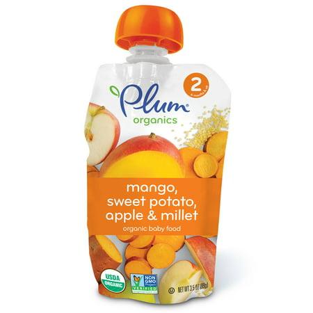 Plum Organics, Organic Baby Food, Stage 2, Mango, Sweet Potato Apple & Millet, 3.5 oz (pack of 12)