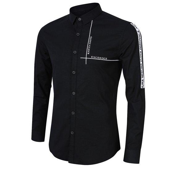 f5f3381dbe21 Redcolourful - Yong Horse Men s Causal Fashion Print Long Sleeve ...