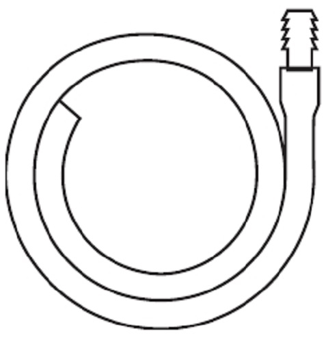 Hollister Extension Tubing 18L, 11/32 Inch ID, Oval, Kink...