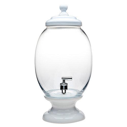 Godinger Porcelain/Glass Dispenser, Yellow