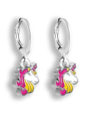 76825ae40 Product Image Pink Unicorn Jewelry Hoop Earrings For Girls   Unicorn  Earrings For Girls   Little Girls Earrings