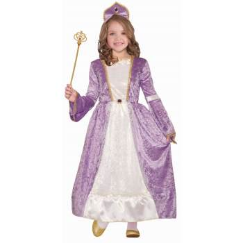 Girls Princess Peyton Purple Halloween Costume - Halloween Girl Faces