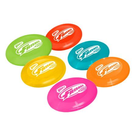 Wham O Disc Golf Mini Frisbee 16 Gram 6 Disc Set Indoor/Outdoor Use, 6 Colors