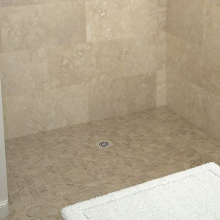 Tile Redi Double Threshold Shower Base With Drain Plate