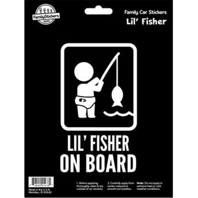 decalcomania 10036 lil fisher on board decal stickers
