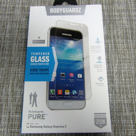 BodyGuardz Tempered Glass screen Protection for the Samsung Galaxy Express 3 (Express Glasses)