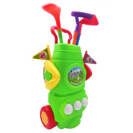 11Pcs Gift Box Plastic Golf Sports Toy Set Kids Golf Game Toy with 3 Clubs 2 Holes 3 Balls and 2 Flags - Green](Kids Plastic Golf Set)