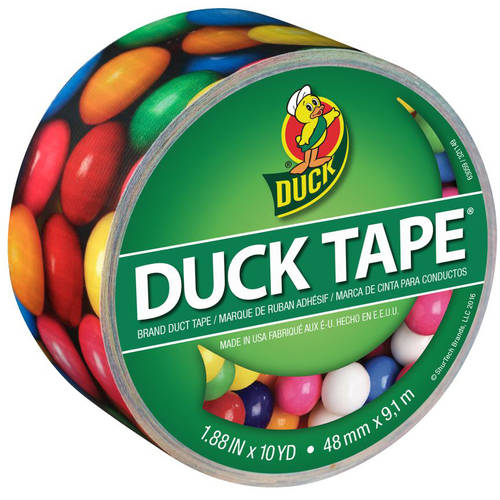 "Color Duck Tape Brand Duct Tape, Gumballs, 1.88"" x 10 yd"