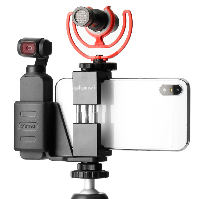 D/&F Handheld Phone Holder Tripod Stand Mount with Expansion Holder for DJI Osmo Pocket