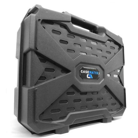 CASEMATIX Travel Hard Case with Dense Foam for Steam Machines by Alienware , Gigabyte BRIX Pro and ZOTAC NEN SN970 - For Steam Machine , Steam Link , Steam Controller -