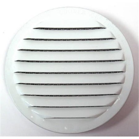RLW-100 4 4 Pack Insect Proof Mini Louvers With Screen, White - 4 in.