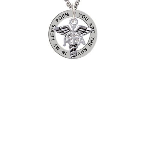 Caduceus - PTA Life's Poem Affirmation Ring Necklace