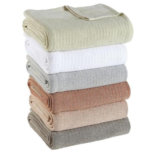 True Cotton Thermal Blanket Full/Queen, 90x90, White