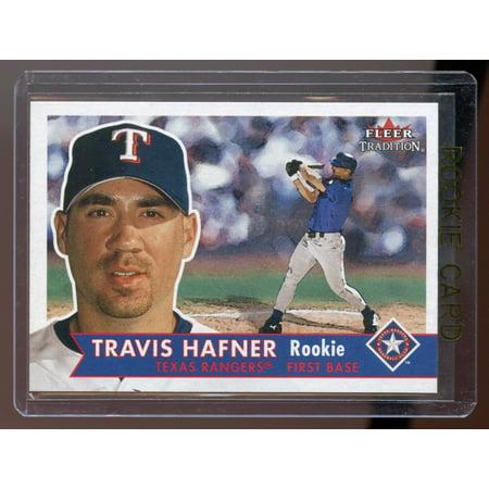 2001 Fleer Tradition #472 Travis Hafner Rangers RC Rookie Card