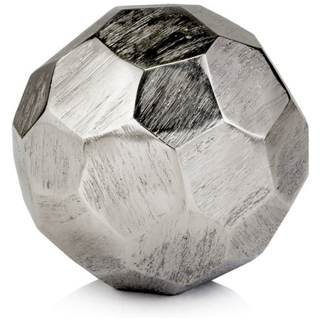 Modern Day Accent Faceado Silver Sphere