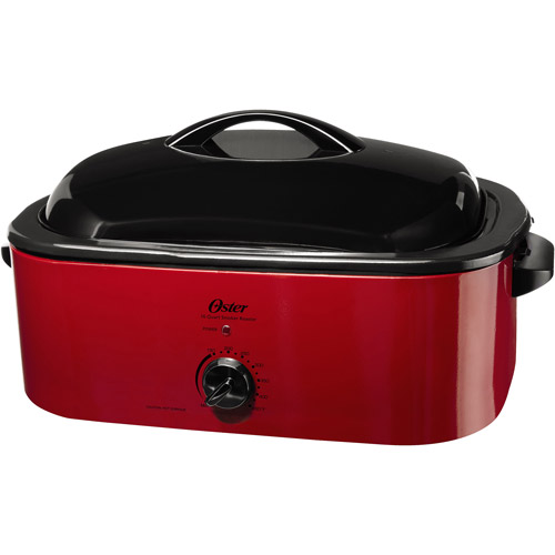 Oster 16-Quart Electric Smoker andRoasterOven, Red