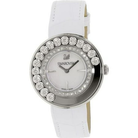 Women's Lovely Crystals 1160308 White Leather Swiss Quartz Watch