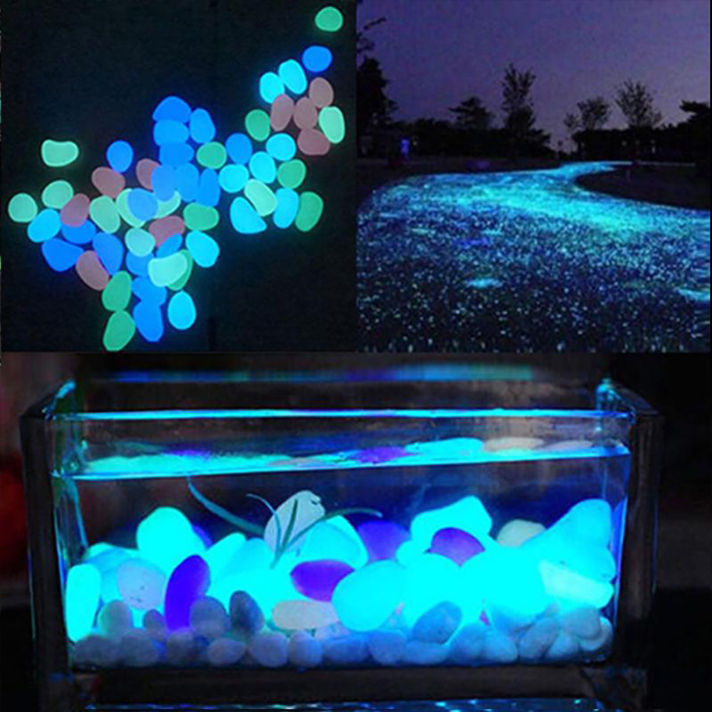 Moderna 10Pcs Luminous Glowing Artificial Stone Aquarium Fish Tank Bonsai Garden Decor