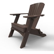 Folding Adirondack Chair by Malibu Outdoor - Hyannis, Dark Brown