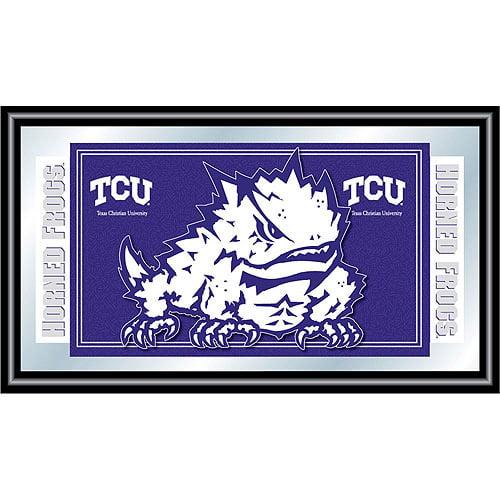 Texas Christian University Logo and Mascot Framed Mirror