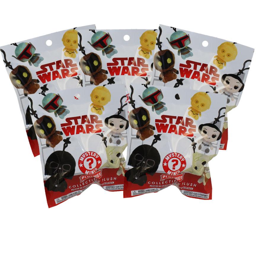 Funko Mystery Mini Plush Clips - Star Wars Classic Series 1 - BLIND BAGS (5 Pack Lot)