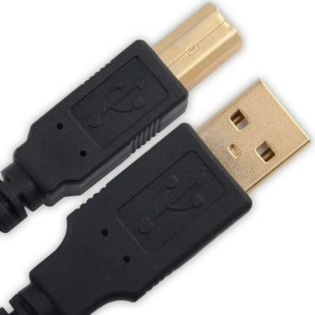 OMNIHIL (15FT) USB Cable Compatible with HP Envy 5055 Wireless All-in-One Photo Printer ()