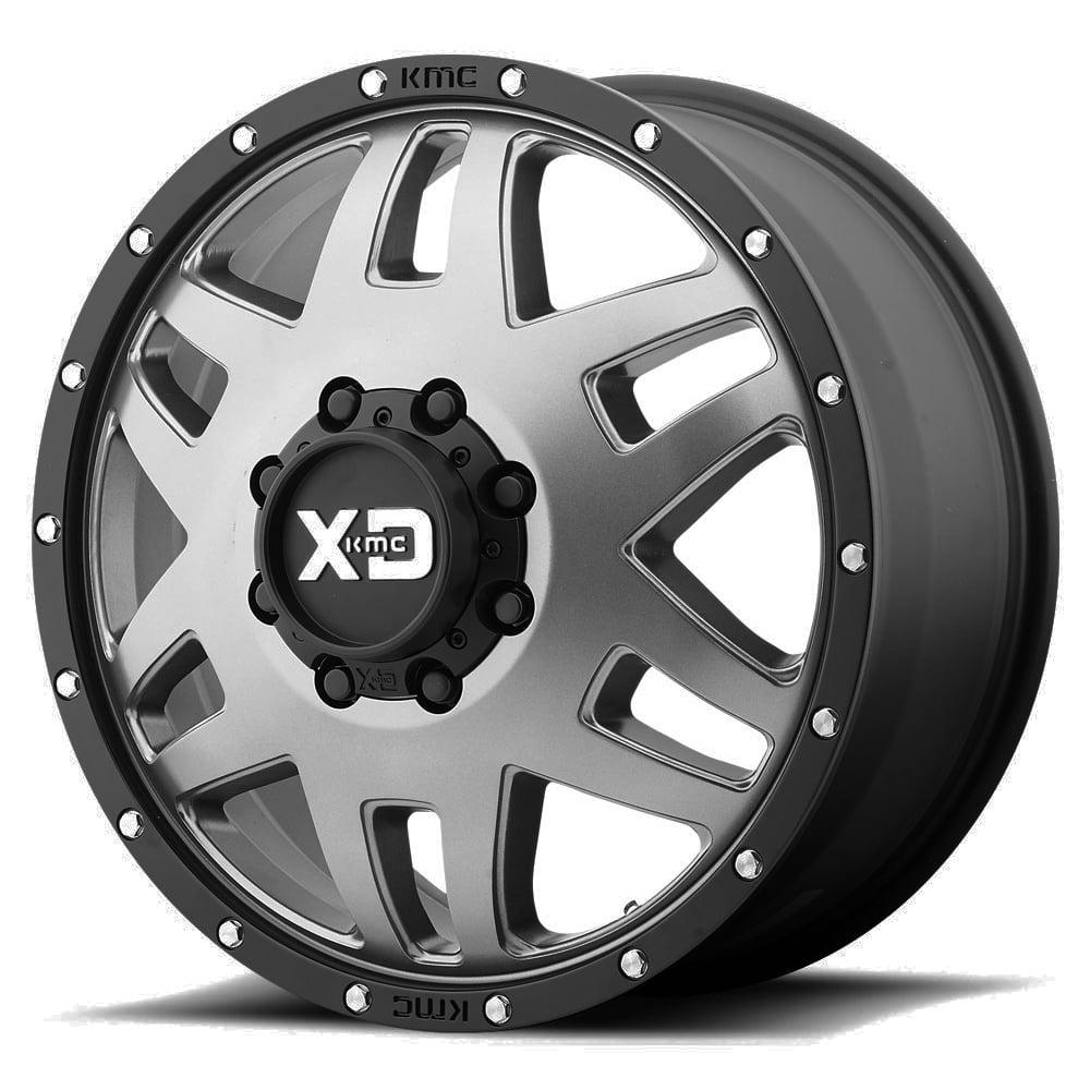 "20"" Inch XD130 Machete Dually Front 8x165.1(8x6.5"") Gunmetal Wheel Rim by XD Series"