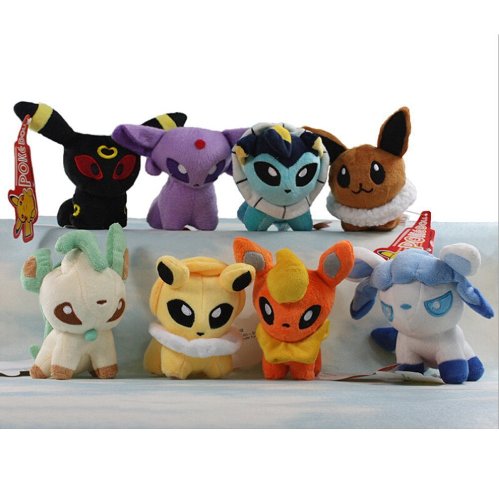 "OliaDesign? Pack of 8 Pcs Plush Soft Toy Stuffed Animal Figures Poke Doll 5"" Glaceon Leafeon Flareon... by OliaDesign"