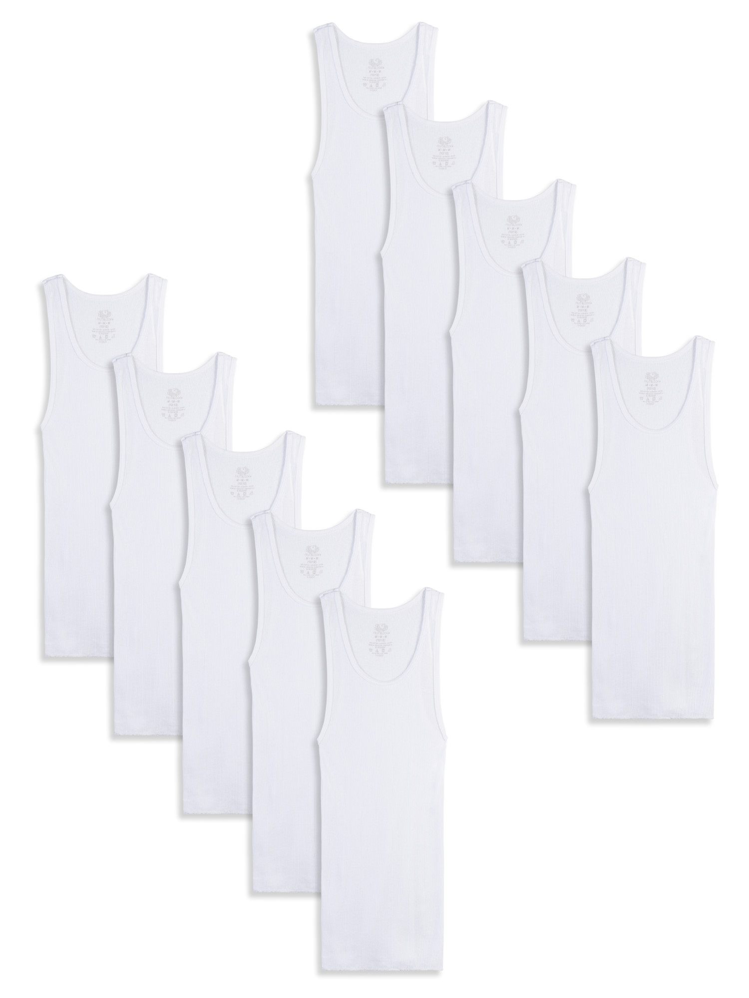 White Tank A-Shirts, 10 Pack (Little Boys & Big Boys)