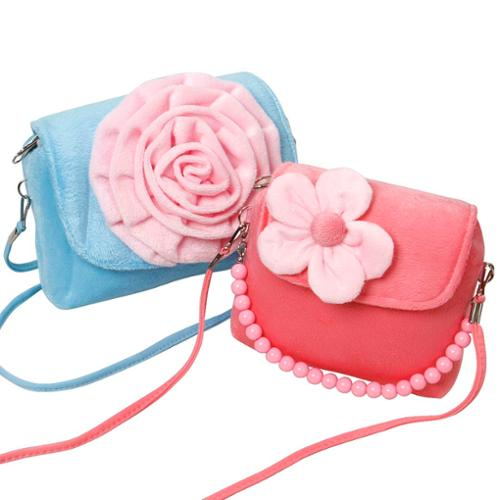 Bundle Monster Cute 2pc Little Girls Fashionable Fun Candy Colored Handbag Set