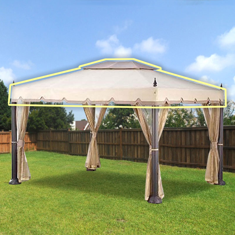 Garden Winds Replacement Canopy Top for Home Depotu0027s Mediterra Gazebo ... & Garden Winds Replacement Canopy Top for Home Depotu0027s Mediterra ...
