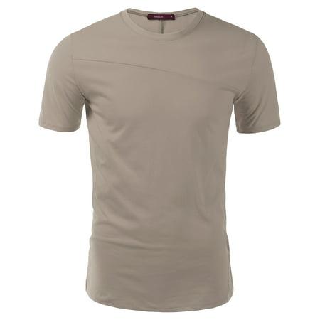 Doublju Mens Comfort Short Sleeve Round Neck -