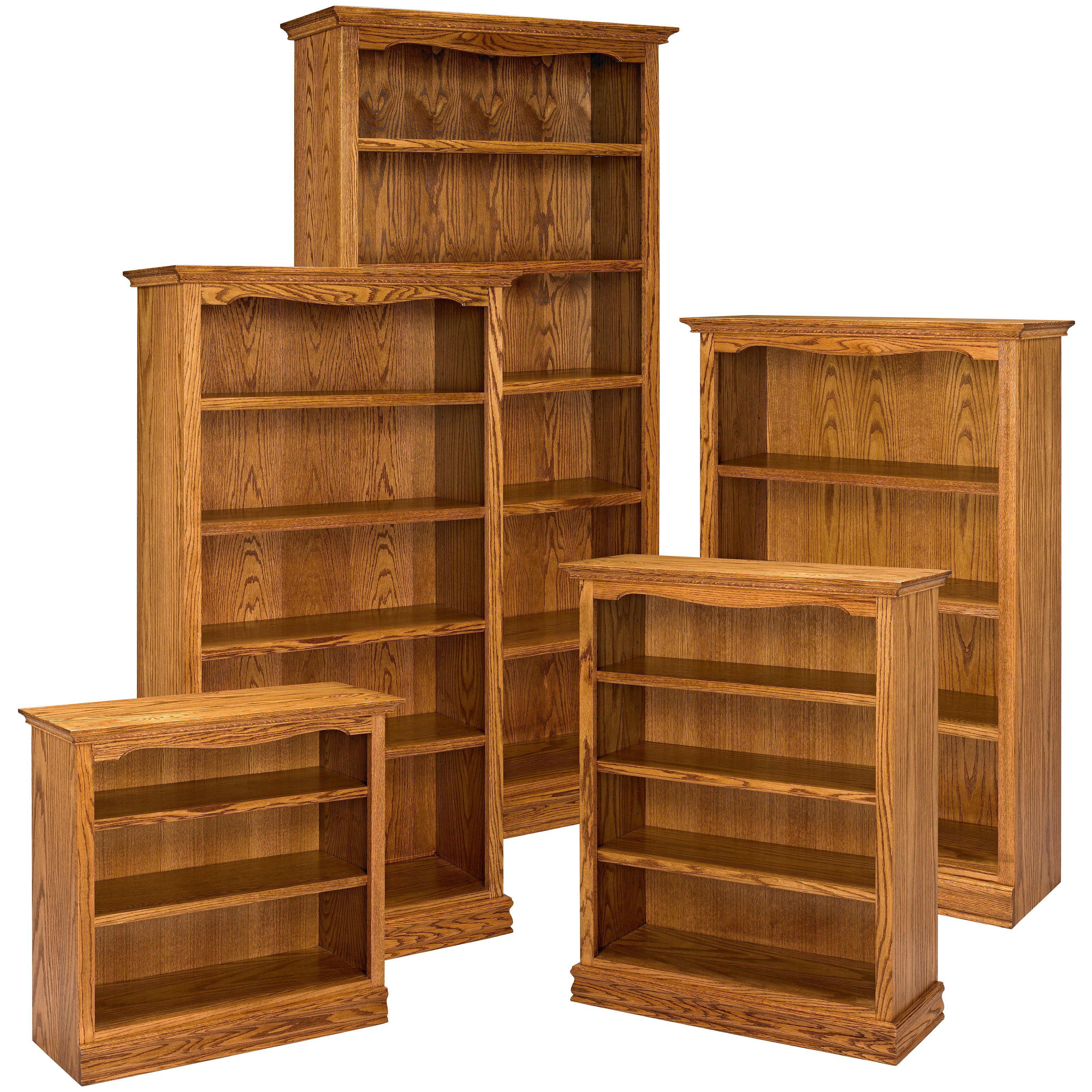 A Amp E Solid Oak Americana Wood Bookcase Walmartcom - Bookshelves at walmart