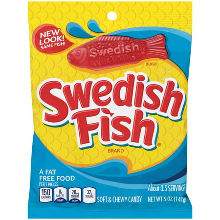 Swedish Fish Soft & Chewy Candy, Original, 5 Oz