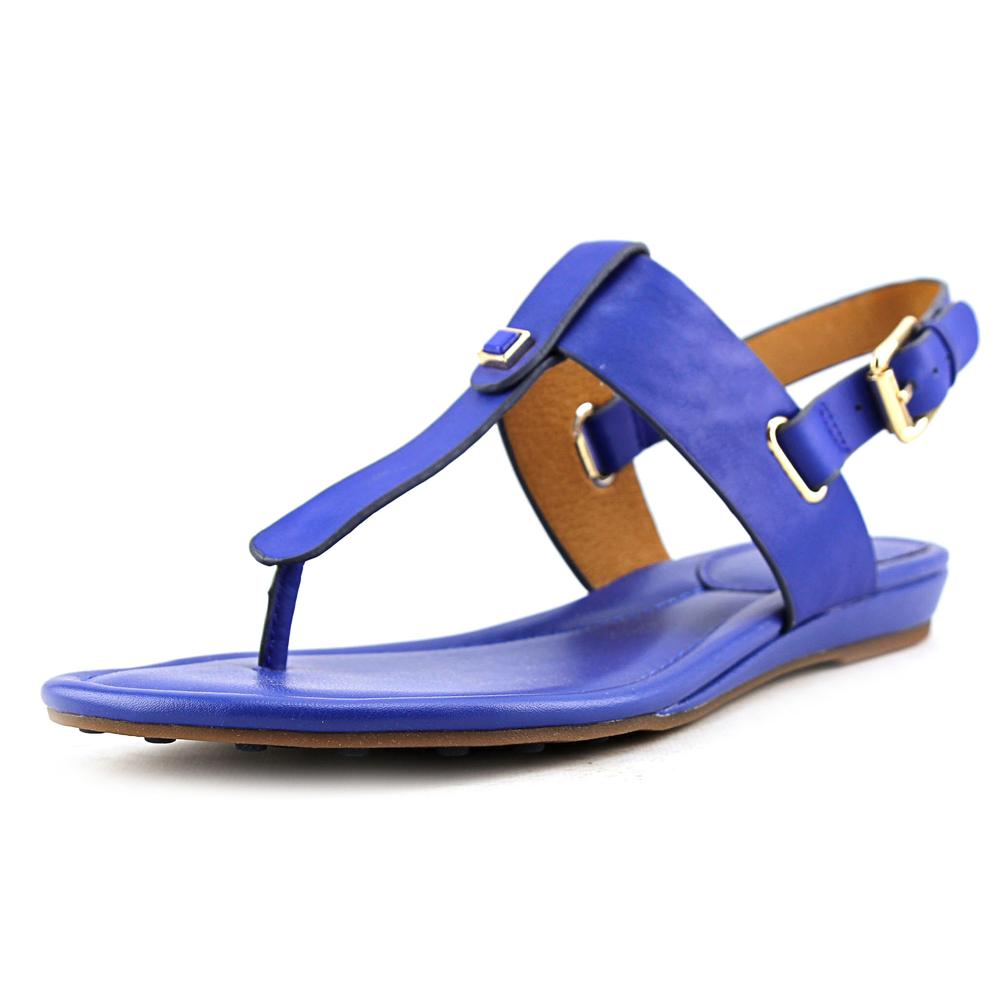 Sofft Alexie Women Open-Toe Leather Blue Slingback Sandal by Sofft