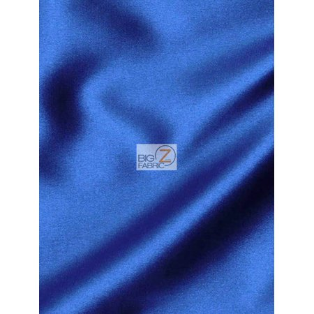 Poly Crepe Back Satin (Solid Crepe Back Satin Fabric / Royal / Sold By The Yard)