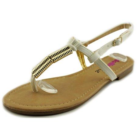 Dollymix Ella-90 Women  Open Toe Synthetic White Thong Sandal