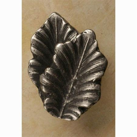 Fancy double oak leaf knob Set of 10 Antique Bronze