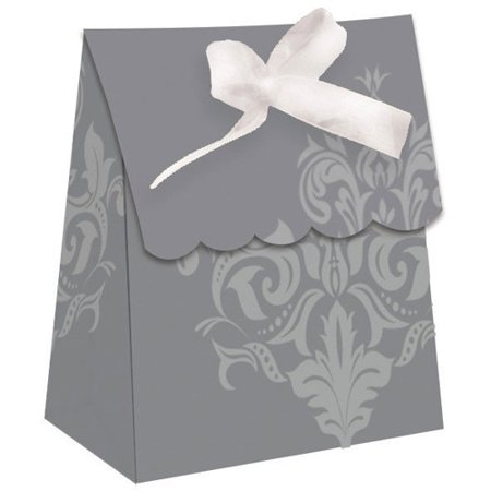Damask Party Favors (Wedding and Bridal 'Silver Damask' Favor Boxes)