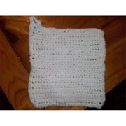 Fine Crafts 629CRO Crocheted white hand made potholder