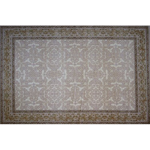 Astoria Grand Guest Hand Look Persian Wool Blue/Ivory/Brown Area Rug