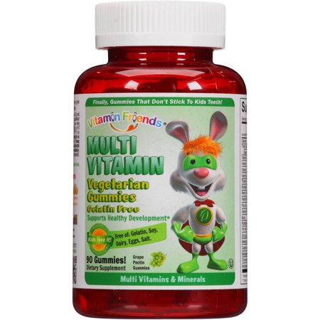 VITAMIN FRIENDS suplemento multi vitamina Uva pectina Vegetariana Gummies dietética 90 conteo