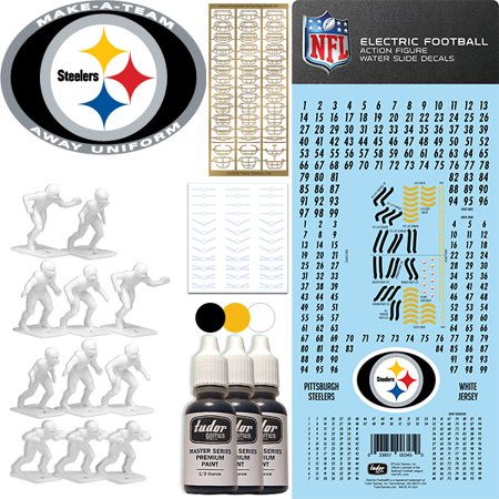 promo code 8f188 876f8 Pittsburgh Steelers NFL Away Uniform Make-A-Team Kit for Electric Football