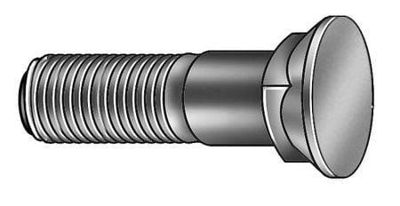 2 Carbon Steel Plow Bolt with Plain Finish; PK25-1CFL8