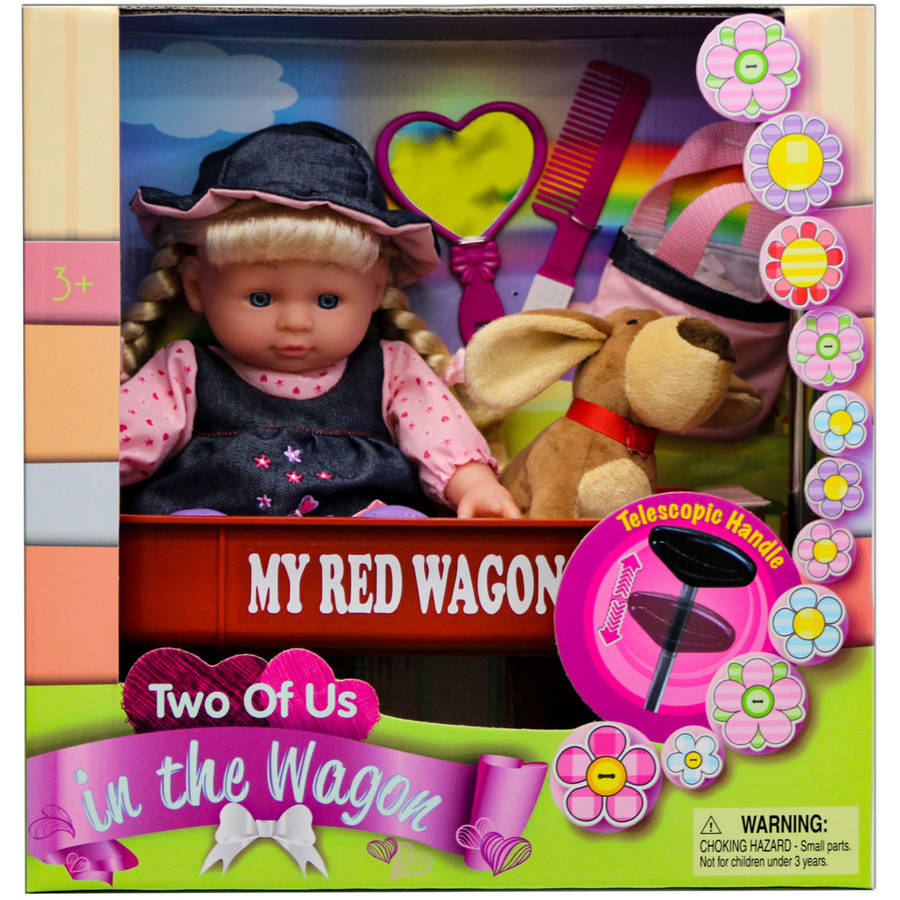 Baby Doll with Wagon Play Set