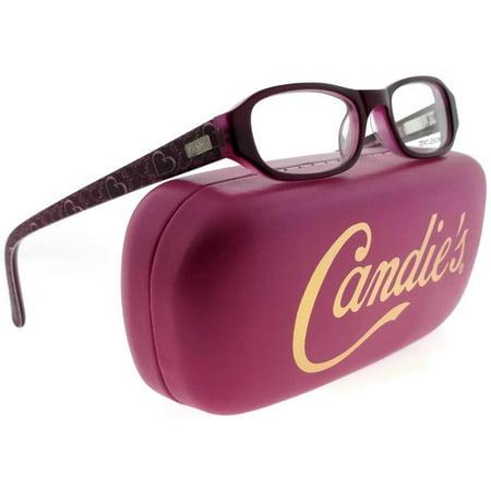 Candies CAA243-BU-44 Oval Women's Burgundy Frame Clear Lens Genuine (Lens Burgundy Frame)