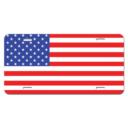 USA Flag United States American - Patriotic Novelty License Plate (Custom Novelty License Plate)