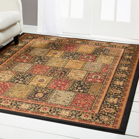 - Home Dynamix Royalty Black-Red Patchwork Area Rug