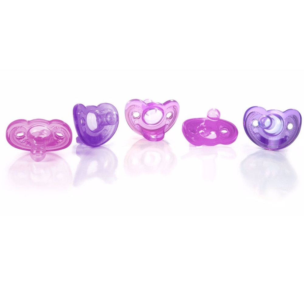 The First Years GumDrop Newborn Pacifier, 5pk, Pink Purple by The First Years